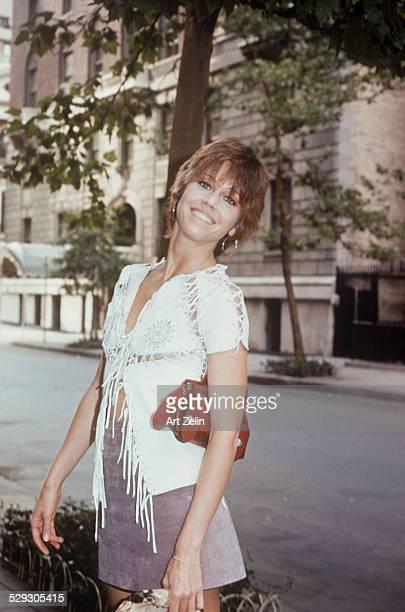 Jane Fonda posing for the photo circa 1970 New York