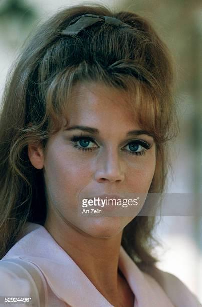 Jane Fonda posing for the photo closeup circa 1970 New York