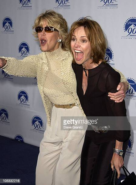 Jane Fonda Sally Field during Paramount Pictures Celebrates 90th Anniversary With 90 Stars for 90 Years at Paramount Pictures in Los Angeles...