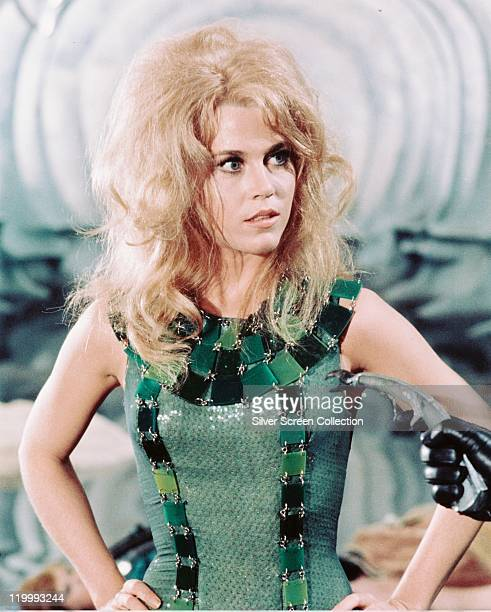 Jane Fonda US actress in a publicity portrait issued for the film 'Barbarella' 1968 The science fiction film directed by Roger Vadim starred Fonda as...