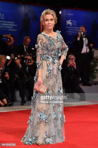 Jane Fonda walks the red carpet ahead of the 'Our Souls At Night' screening during the 74th Venice Film Festival at Sala Grande on September 1 2017...