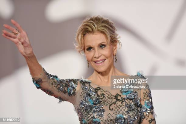 Jane Fonda walks the red carpet ahead of the 'Our Souls At Night' screening during the 74th Venice Film Festival at Sala Grande on September 1, 2017...