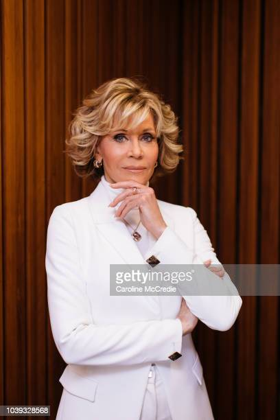 Jane Fonda wears Chopard at the Sydney Opera House on August 27 2018 in Sydney Australia