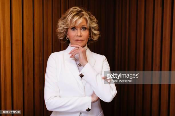Jane Fonda wears Chopard at the Sydney Opera House on August 27, 2018 in Sydney, Australia.