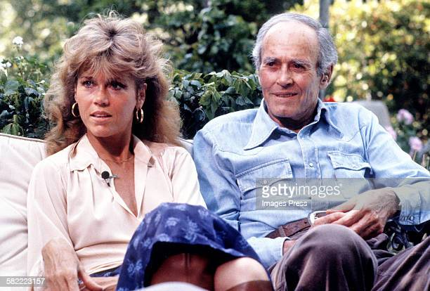 Jane Fonda with father Henry Fonda circa 1979 in Los Angeles California