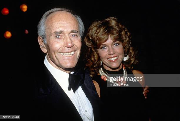 Jane Fonda with father Henry Fonda circa 1979 in New York City