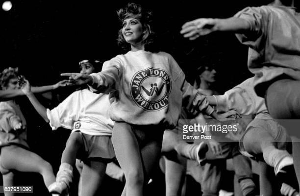 Jane Fonda Work out stuff Models introduce Fonda's workout wear during fashion show Credit The Denver Post