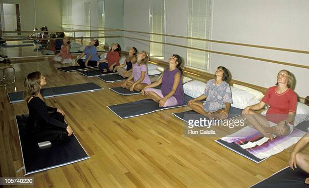 Jane Fonda's Exercisers during Jane Fonda at Opening of Workout Exercise Gym September 13 1979 at Workout Exercise Gym in Beverly Hills California...