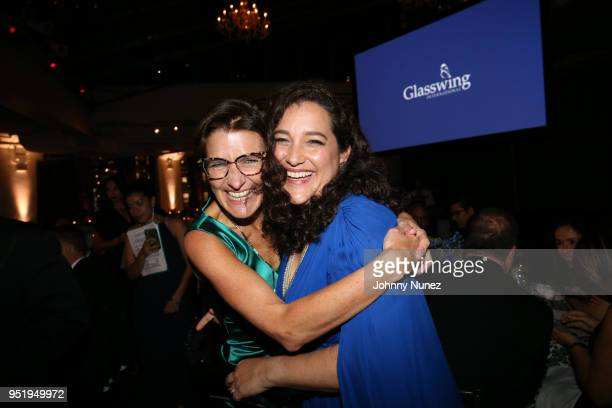 Jane Fraser and Glasswing International coFounder Celina de Sola attend the 2018 Glasswing International Gala at Tribeca Rooftop on April 26 2018 in...