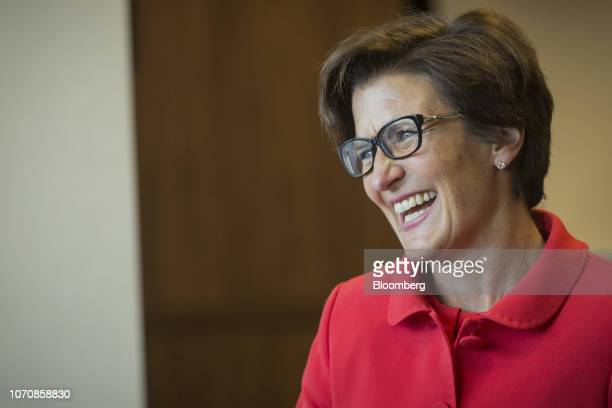 Jane Fraser, chief executive officer for Latin American at Citigroup Inc., laughs during an interview at the company's headquarters in Sao Paulo,...
