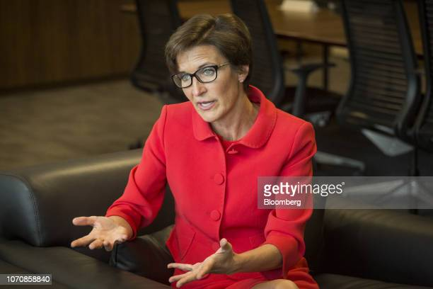 Jane Fraser, chief executive officer for Latin American at Citigroup Inc., speaks during an interview at the company's headquarters in Sao Paulo,...