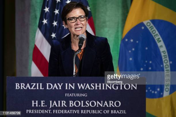 Jane Fraser, chief executive officer for Latin American at Citigroup Inc., speaks during a Brazil Day conference at the U.S. Chamber of Commerce in...
