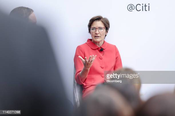 Jane Fraser, chief executive officer for Latin American at Citigroup Inc., speaks during the Milken Institute Global Conference in Beverly Hills,...