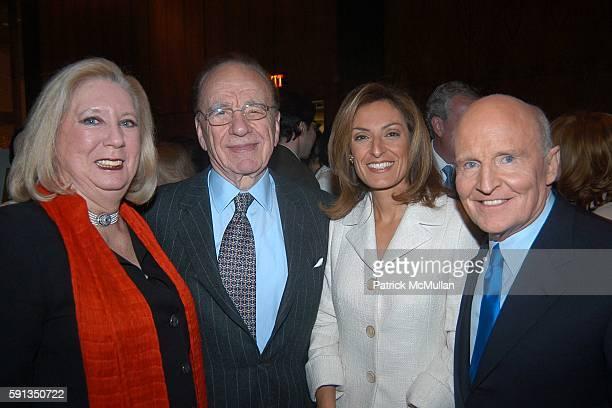 Jane Friedman Rupert Murdoch Suzy Welch and Jack Welch attend Rupert Murdoch Hosts a Cocktail Reception for the Release of Jack Welch's Book Winning...