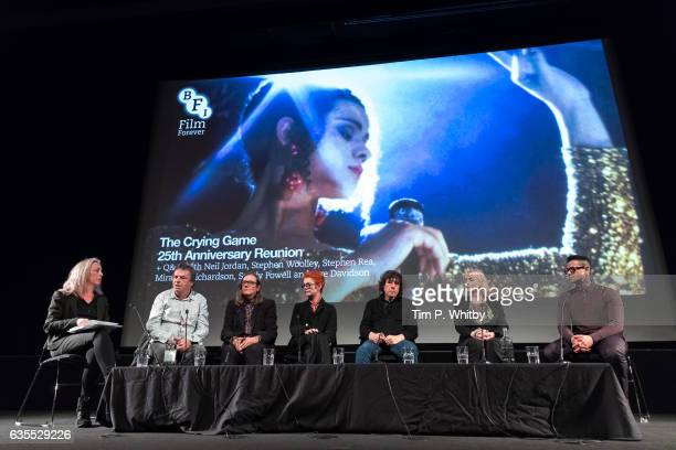 Jane Giles conducts questions with Director Neil Jordan Producer Stephen Woolley Costume Designer Sandy Powell Actor Stephen Rea Actor Miranda...
