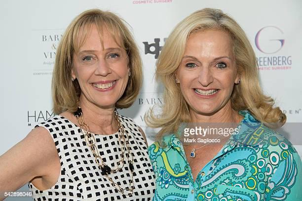 Jane Gol and Ann Liguori attend the Hamptons Magazine Celebration with Cover Star Charlotte Ronson at Barn Vine on June 24 2016 in Bridgehampton New...