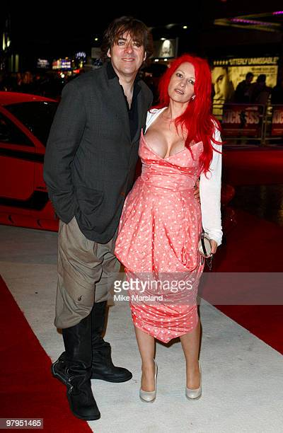 Jane Goldman and Jonathan Ross attend the UK Film Premiere of 'Kick Ass' at Empire Leicester Square on March 22, 2010 in London, England.