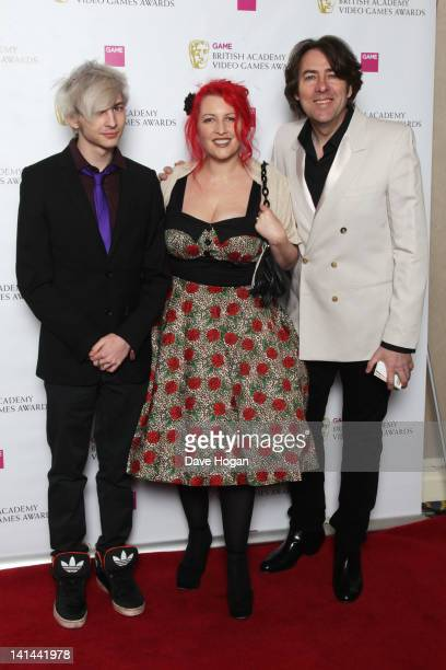 Jane Goldman Jonathan Ross and son Harvey attend The 2012 Game British Academy Video Games Awards at The Hilton Park Lane on March 16 2012 in London...
