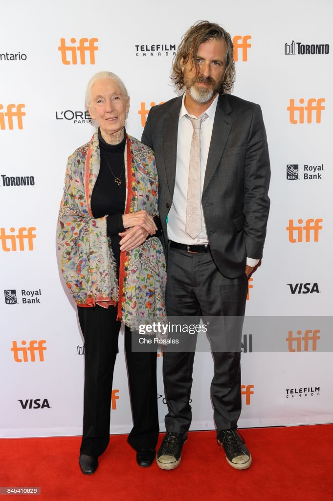 Jane Goodal and Director Brett Morgen arrive at Winter Garden Theatre on September 10, 2017 in Toronto, Canada.