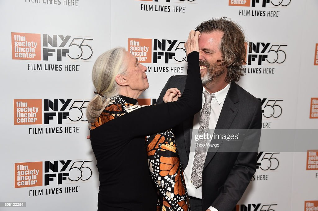 Jane Goodall and director Brett Morgen attend the 55th New York Film Festival - 'Jane' at The Film Society of Lincoln Center, Walter Reade Theatre on October 5, 2017 in New York City.