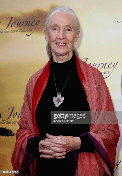 Jane Goodall arrives for Jane's Journey Germany premiere at Astor Film Lounge on August 26 2010 in Berlin Germany