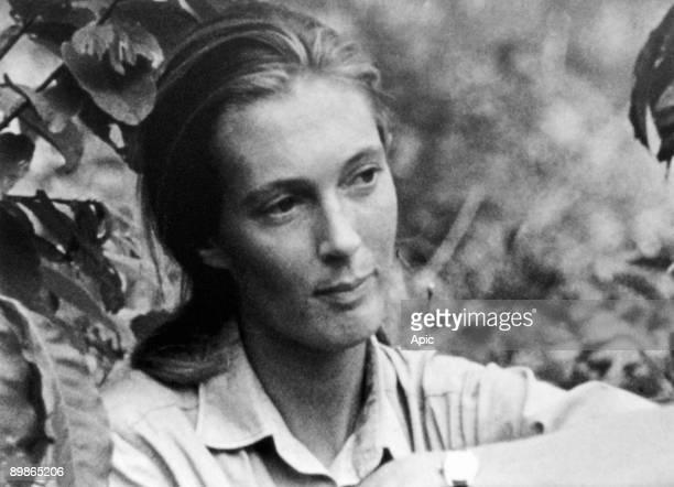 Jane Goodall, English primatologist, ethologist, and anthropologist, c. 1976