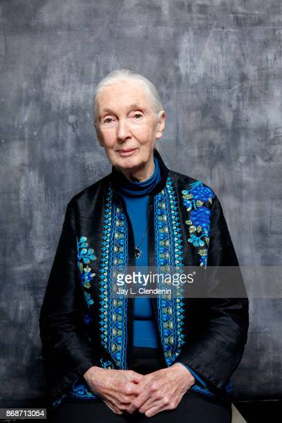 Jane Goodall is photographed for Los Angeles Times on October 9, 2017 in Los Angeles, California. PUBLISHED IMAGE. CREDIT MUST READ: Jay L....
