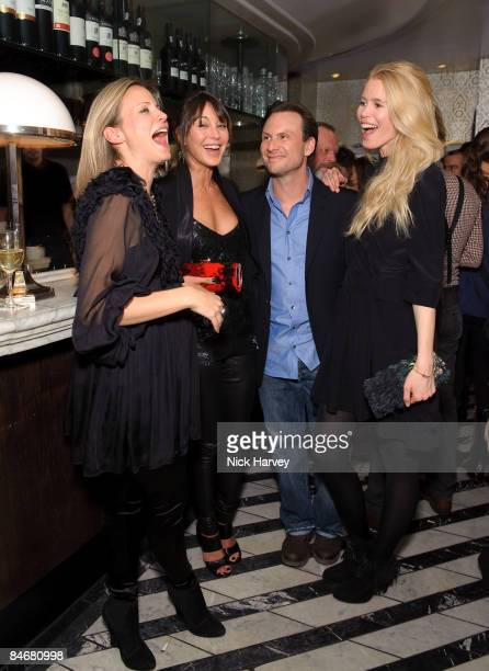 Jane Gottschalk Tamara Mellon Christian Slater and Claudia Schiffer attend Vogue's dinner hosted by Alexandra Shulman and Nick Jones at Cecconi's on...