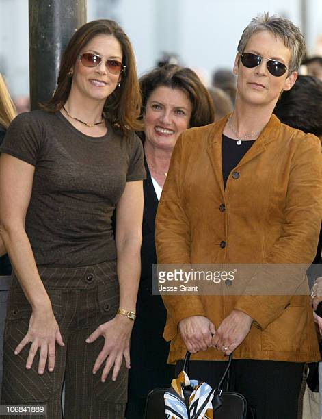 Jane Hajduk and Jamie Lee Curtis during Tim Allen Honored with a Star on the Hollywood Walk of Fame for His Achievements in Film at 6834 Hollywood...