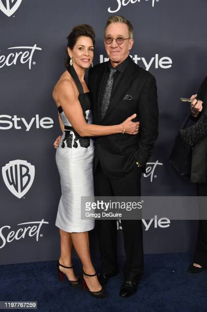 Jane Hajduk and Tim Allen attend the 21st Annual Warner Bros And InStyle Golden Globe After Party at The Beverly Hilton Hotel on January 05 2020 in...