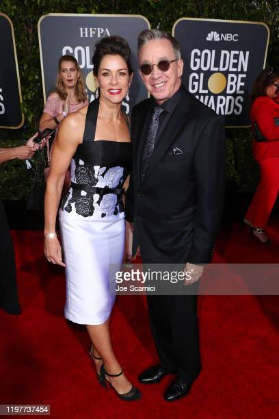 Jane Hajduk and Tim Allen attend the 77th Annual Golden Globe Awards at The Beverly Hilton Hotel on January 05 2020 in Beverly Hills California