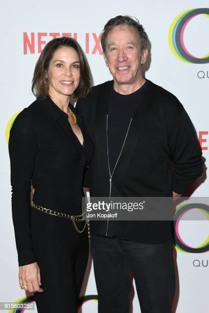 Jane Hajduk and Tim Allen attend the premiere of Netflix's Queer Eye Season 1 at Pacific Design Center on February 7 2018 in West Hollywood California