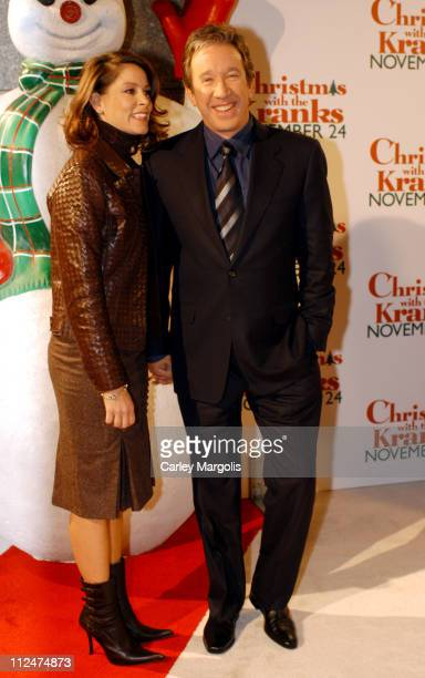 Jane Hajduk and Tim Allen during Christmas with the Kranks New York Premiere at Radio City Music Hall in New York City New York United States