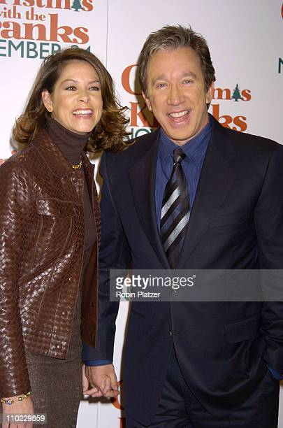 Jane Hajduk and Tim Allen during World Premiere of Christmas With The Kranks at Radio City Music Hall in New York City New York United States