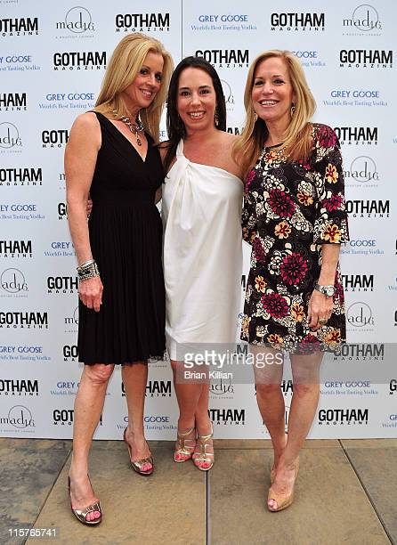 Jane Hansen Samantha Yanks and Amy Rosenblum attend SNL's Kristen Wiig's cover party hosted by Niche Media's Jason Binn at mad46 Rooftop Lounge The...