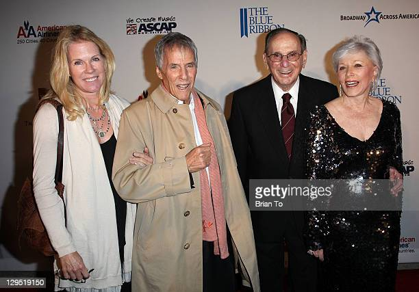Jane Hansen songwriter Burt Bacharach lyricist Hal David and wife Eunice David attend Love Sweet Love musical tribute to Hal David at Mark Taper...