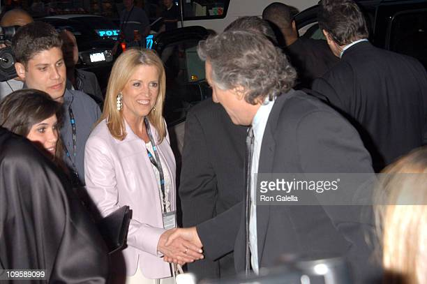 Jane Hanson and Robert De Niro during 4th Annual Tribeca Film Festival The Interpreter Premiere Outside Arrivals at Ziegfeld Theater in New York City...
