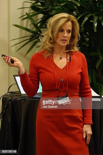 Jane Hanson speaks onstage at the Breakfast Workshop Image at Fortune MPW Next Gen 2016 on November 30 2016 in Dana Point California