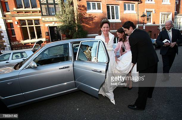 Jane Hardman arrives for her wedding to Alan Parker at Christ Church Kensington on March 9 2007 in London England Gordon Brown also attended the...
