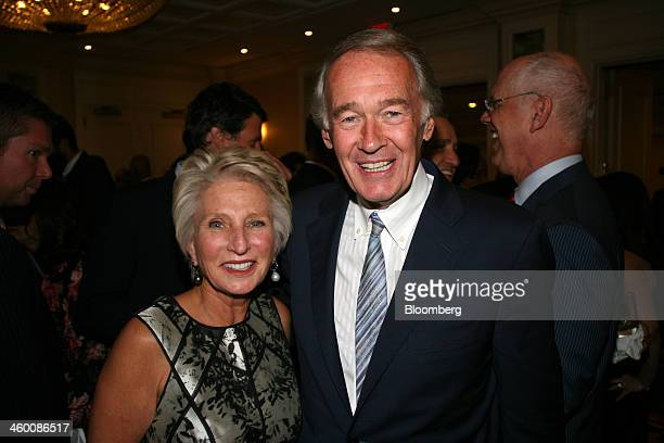 Jane Harman president and chief executive officer of Woodrow Wilson International Center for Scholars left and US Senator Edward Ed Markey a Democrat...