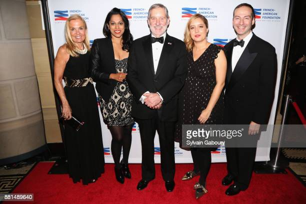 Jane Hartley Penny Abeywardena Allan Chapin Emeline Foster and Scott Handler attend French American Foundation Annual Gala 2017 at Gotham Hall on...