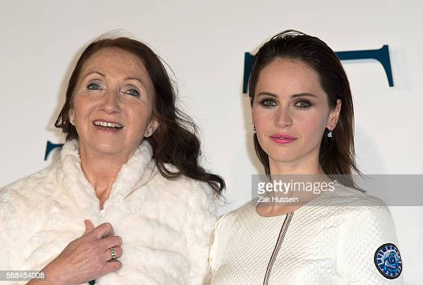 Jane Hawking and Felicity Jones arriving at the UK premiere of The Theory of Everything at the Odeon Leicester Square in London