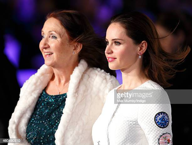 Jane Hawking and Felicity Jones attend the UK Premiere of 'The Theory Of Everything' at Odeon Leicester Square on December 9 2014 in London England