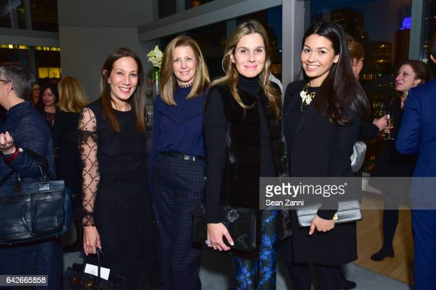 Jane Hertzmark Hudis Helen Murphy Aerin Lauder and Alexandra Hardyment attend The Fragrance Foundation The Notables at LVMH Tower Magic Room on...