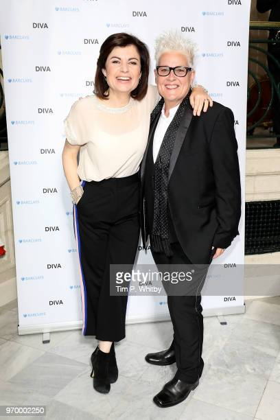 Jane Hill and Horse McDonald at the 2018 Diva Awards at The Waldorf Hilton Hotel on June 8 2018 in London England
