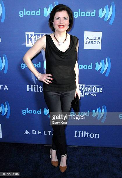 Jane Hill arrives at the 26th Annual GLAAD Media Awards at The Beverly Hilton Hotel in Beverly Hills California