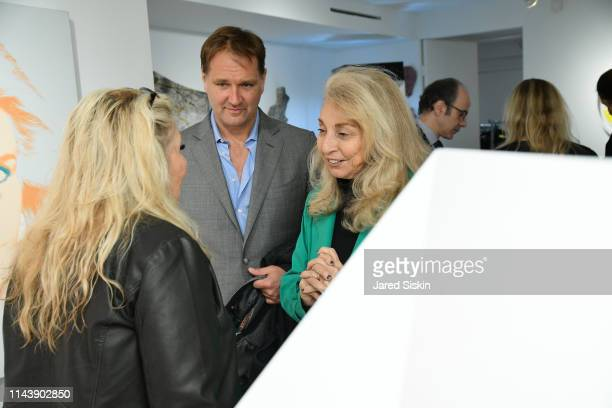 Jane Holzer Nicholas Varney and Eleanora Kennedy attend Double Vision Curated By Jane Holzer at Leila Heller Gallery on May 13 2019 in New York City