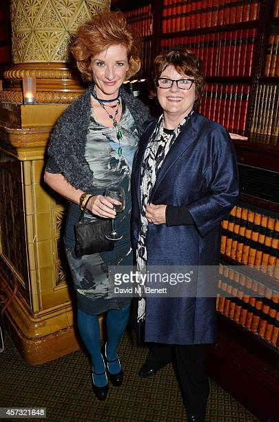 Jane Horrocks and Brenda Blethyn attend an after party celebrating the gala opening night performance of 'East Is East' playing at the Trafalgar...