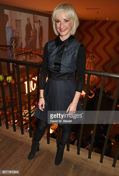 Jane Horrocks attends the press night after party celebrating The Old Vic's production of 'King Lear' at the Ham Yard Hotel on November 4 2016 in...
