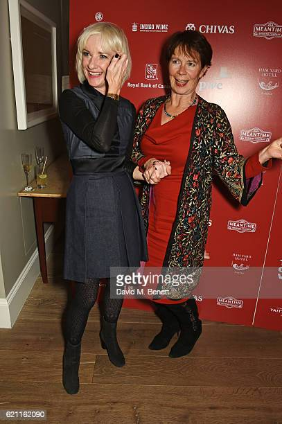 Jane Horrocks Celia Imrie attend the press night after party celebrating The Old Vic's production of King Lear at the Ham Yard Hotel on November 4...